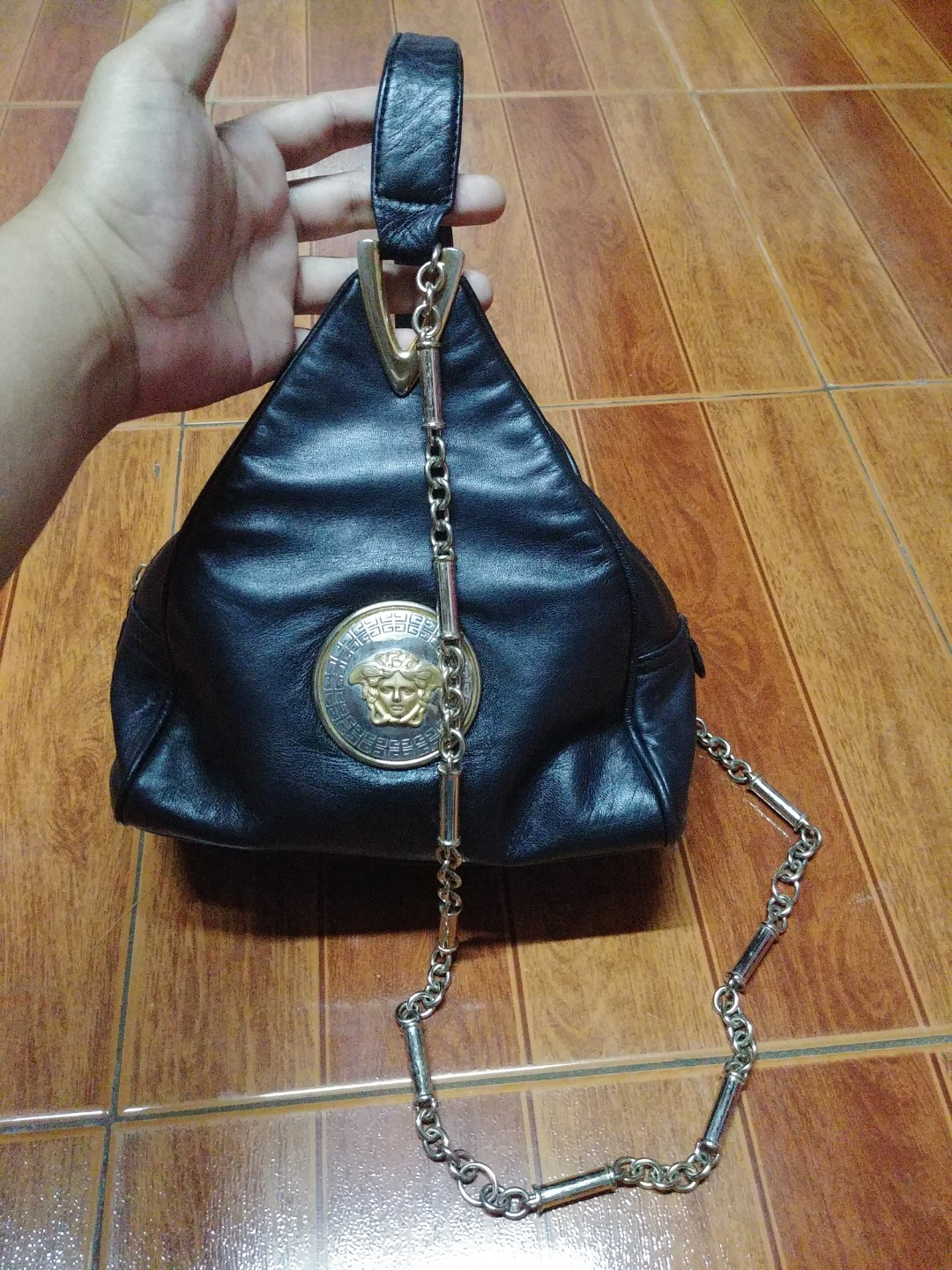 8796709fba5 RARE!! COLLECTORS MUST HAVE Gianni versace medusa head bracelet handbag,  Luxury, Bags   Wallets on Carousell