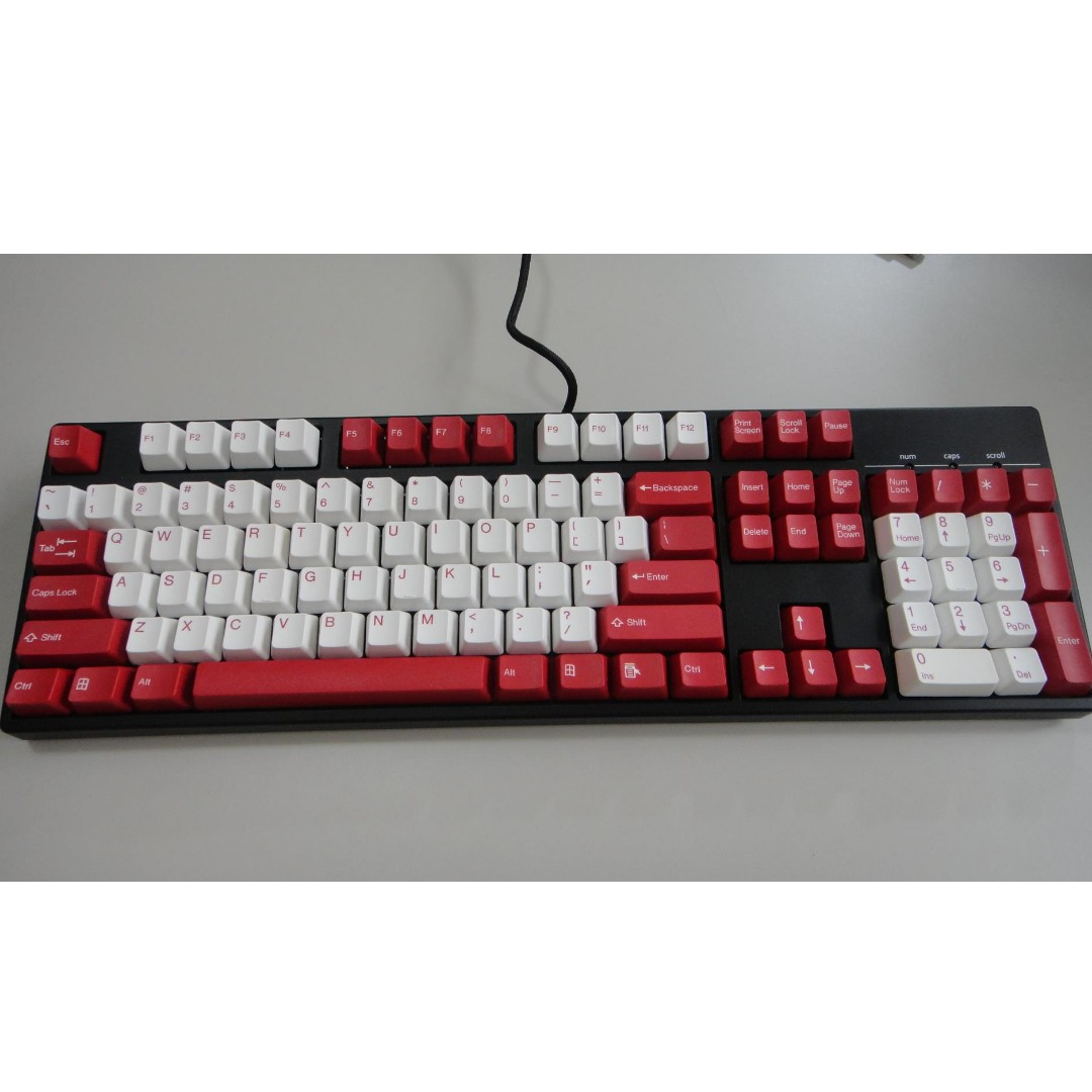 c19d5c0cabd Red Double-shot Keycaps Set (104 keys), Toys & Games, Video Gaming ...