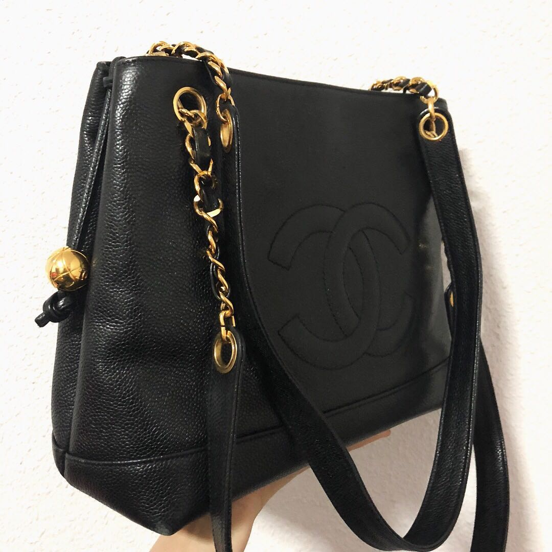 3ad77f469dd0 RESERVED Authentic Chanel Caviar Tote with 24k Gold Hardware, Luxury ...