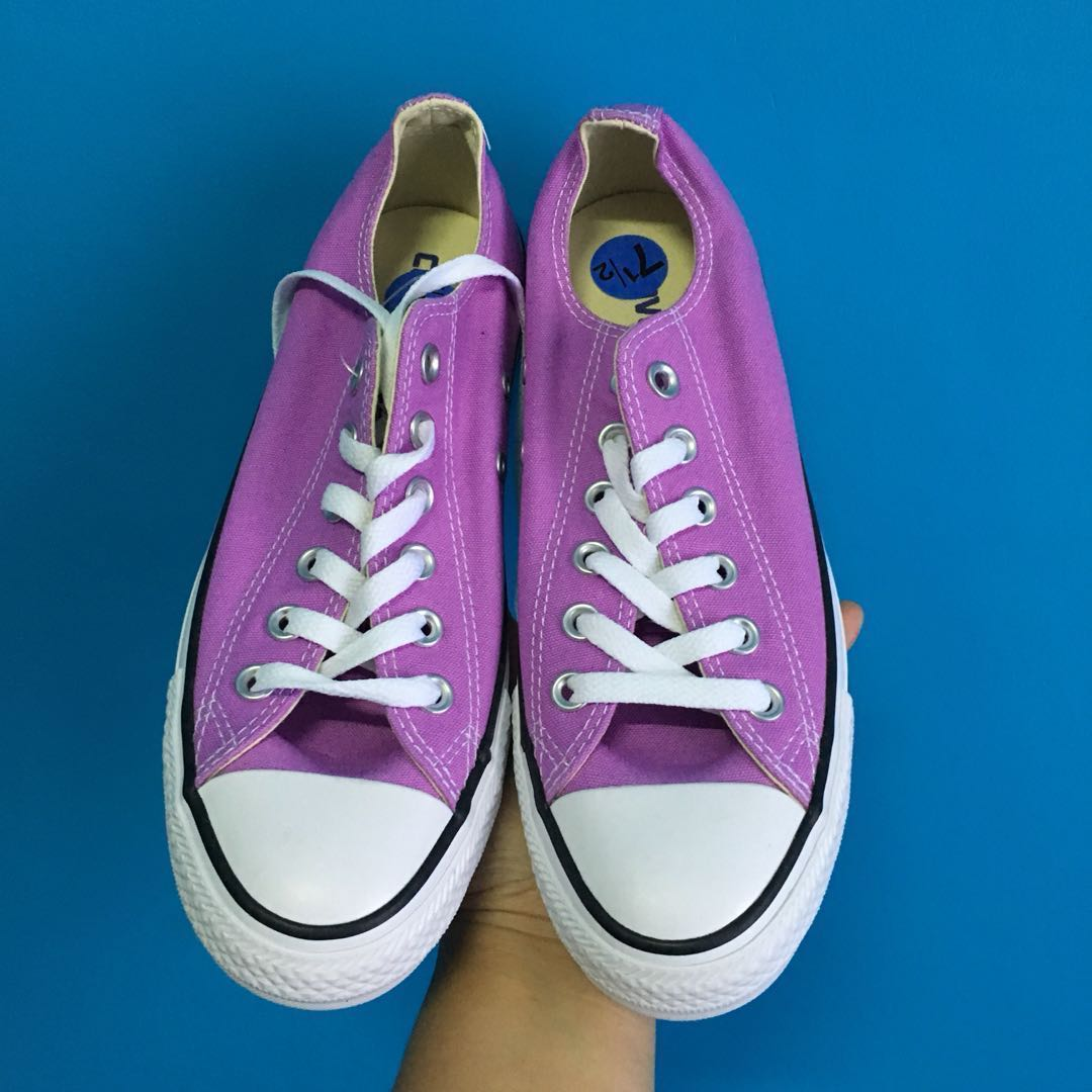 8dc13783c7d1 Rush Sale Brand New Authentic Converse Purple Sneakers US7.5 Womens ...