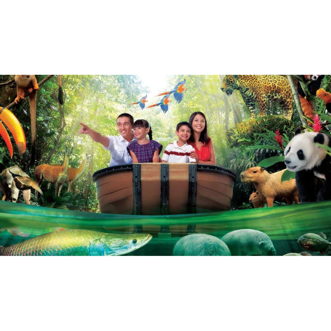 Singapore River Safari Admission Ticket Tickets Vouchers Ocean Park Hongkong Dewasa Attractions On Carousell