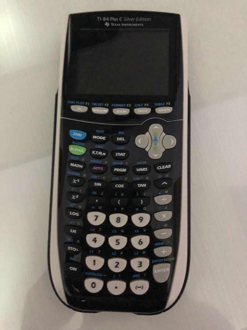 TI-84 Plus C Silver Edition Graphing Calculator