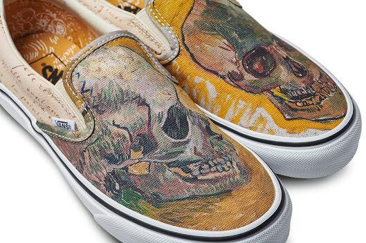 2b32fbccfa8c Vans x Van Gogh Skull Slip Ons