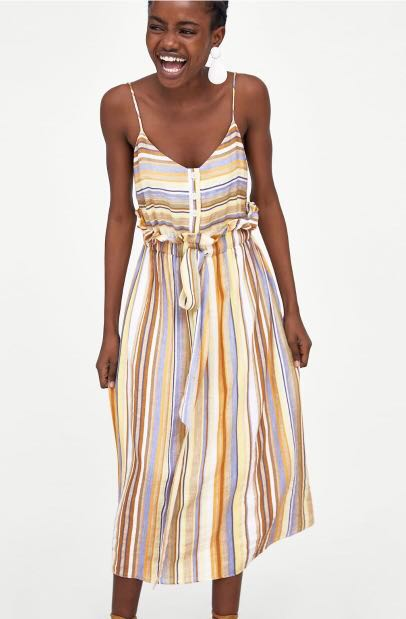 a7f9f049c5 ZARA TRF Midi Strappy Dress