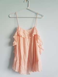 """Free People"" Pink Top Extra Small"