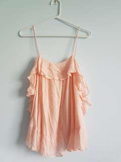 """""""Free People"""" Pink Top Extra Small"""