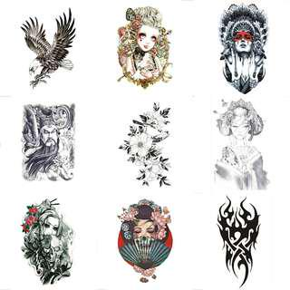 [ High Positive Rating ] Unisex Temporary Tattoo Waterproof Tattoos For Cool Men Women Transferable Tattoos Stickers On The Body Art