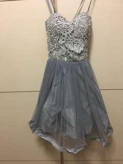 🚚 全新蕾絲馬甲連身網紗洋裝