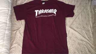 Maroon thrasher shirt