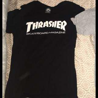 Black thrasher shirt