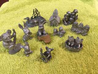森林音樂會 小動物錫擺飾 80年代二手小物