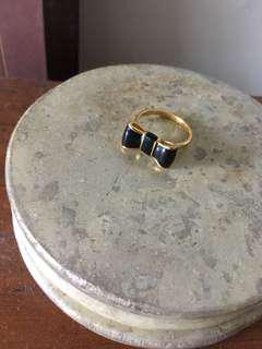 Kate spade gold plated, bow ring.