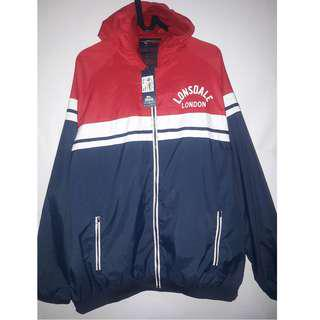 Lonsdale Retro Rain Jacket Navy/Red