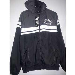 Lonsdale Retro Rain Jacket Black/Grey