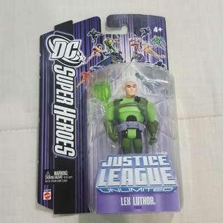 "Legit Brand New Sealed Mattel DC Super Heroes Justice League Unlimited Lex Luthor 4.5"" Toy Figure"