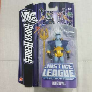 "Legit Brand New Sealed Mattel DC Super Heroes Justice League Unlimited Blue Devil 4.5"" Toy Figure"