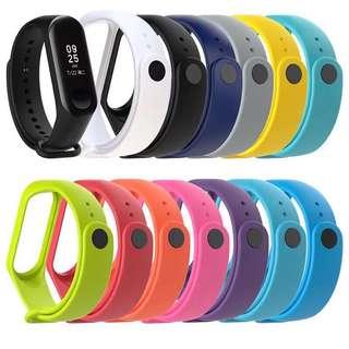🚚 小米手環3 腕帶矽膠錶帶 彩色運動 防水替換帶
