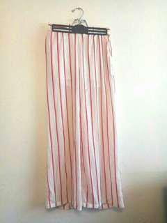 BNWT Red/white striped culottes