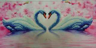 天鵝湖鑽石畫