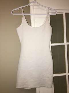 White clubbing body con dress
