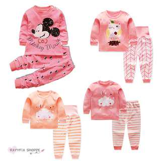Baby Kids Girls Pyjamas Nightwear Set (6m - 4y)