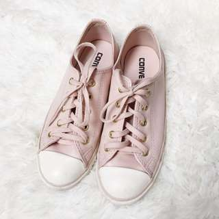 CONVERSE Chuck Taylor All Star Dainty Craft Leather Dusk Pink/Gold/Egret