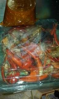 Kepiting saus tiram,1 porsi isi 5 kepiting