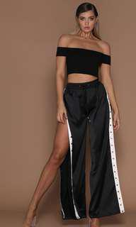 Black silky popper pants! Brand new! Haven't worn before!
