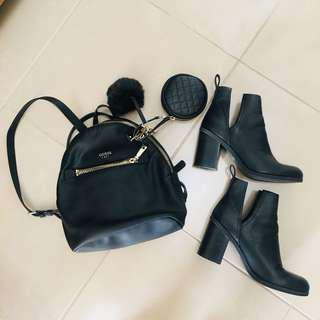 Boots and guess backpack bundle