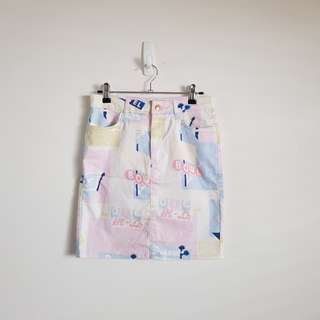 TOPSHOP Retro Pop Art Skirt Size 10