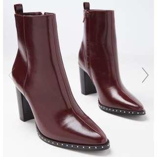 Burgundy Boot, Size 39 - Brand New