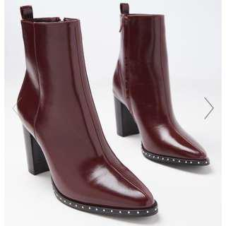 Burgundy Boot, Size 39 - Brand New
