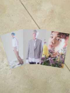 EXO-CBX Blooming days pre-order postcards