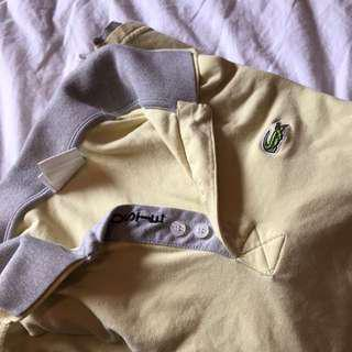 LACOSTE YELLOW COLLARED SHIRT