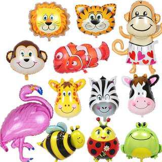 Balon Pesta Ulang Tahun Anak Model Binatang 10 PCS