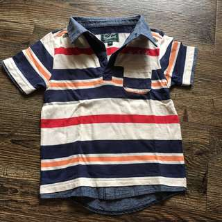 Woolrich USA stripe sportshirt for little boys