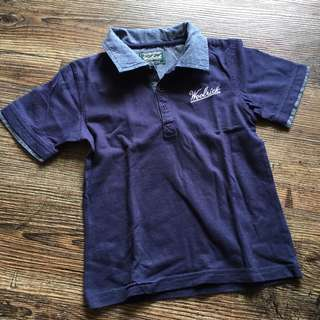 Woolrich USA navy sportshirt for little boys