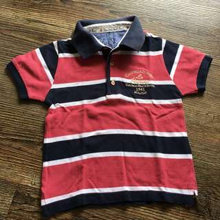 Mayoral Stripes sportshirt for little boys