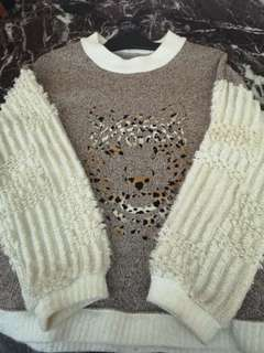 Tiger knit sweater