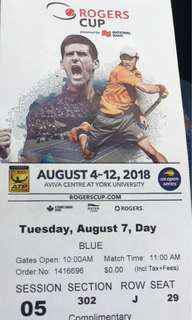 Rogers cup tickets