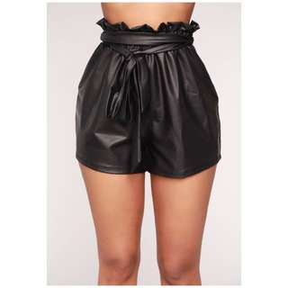 Brand new faux leather high waisted shorts