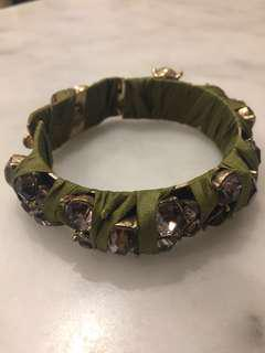 J. Crew bracelet with ribbon & jewels