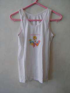 公主全棉打底背心 Princess cotton inner vest top