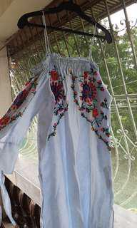 H&M Off shoulder floral dress