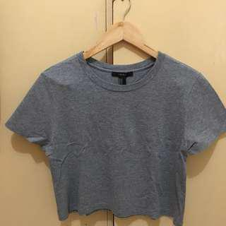 Forever 21 Gray Crop top shiry