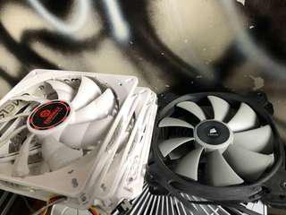 140mm電腦fan 2x全新Corsair 110gt拆出來,3x led扇