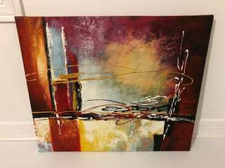 NEW Abstract Painting Canvas - 22.5 inches x 19 inches