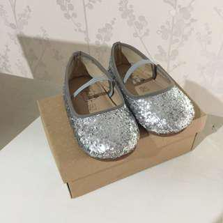 LULLABEE EMILY SILVER FLAT SHOES