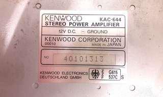 """I.C.E setup Kenwood KAC-644 4 channels Car amplifier + Twister Tw-80FW 8""""  slim woofer speaker"""