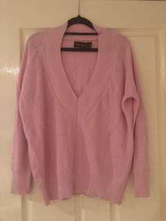 Pink oversized jumper - fits 6-10